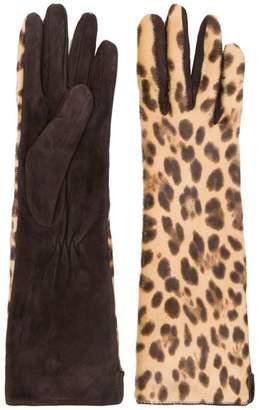 Max Mara leopard print gloves