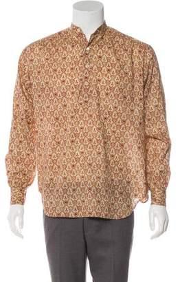 Saint Laurent Ikat Button-Up Shirt