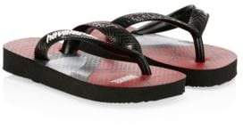 Havaianas (ハワイアナス) - Havaianas Havaianas Kid's Spiderman Thong Sandals - Black - Size 23-24/ 9 US (Toddler)