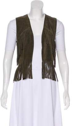 Current/Elliott Suede Fringe Vest