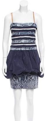 BCBGMAXAZRIA Strapless Sequin-Accented Dress