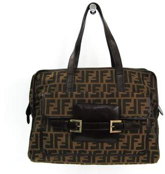 Fendi Brown Zucca Shoulder Bag (SHA-12405) 50dca3f4333