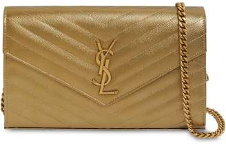 Saint Laurent SMALL QUILTED METALLIC LEATHER BAG