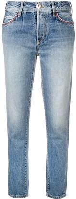 Alanui embroidered pocket skinny jeans