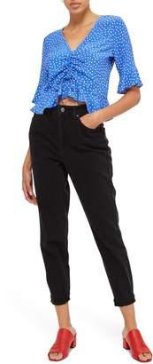 Topshop Black Mom Jeans