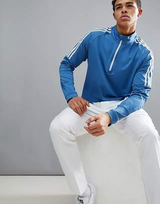 adidas Half Zip Sweat In Blue CD9939