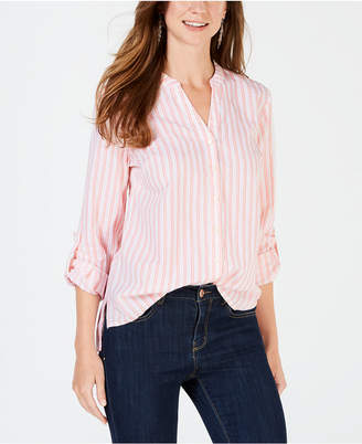 Style&Co. Style & Co Printed Button-Down Cotton Shirt, Created for Macy's