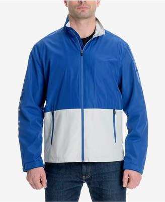 Michael Kors Men's Big & Tall Colorblocked Logo-Print Windslicker Jacket