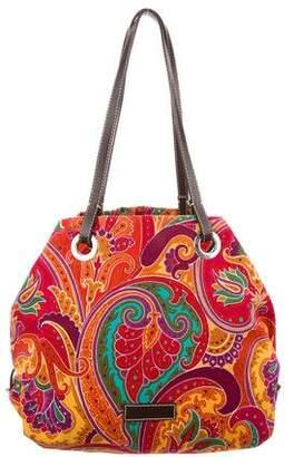 Etro Printed Canvas Tote Bag