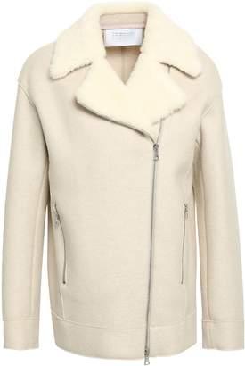 Harris Wharf London Faux Shearling-trimmed Wool-felt Jacket
