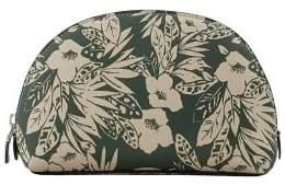 Violeta BY MANGO Floral Jungle saffiano-effect cosmetic bag