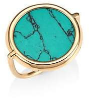 ginette_ny Turquoise& 18K Rose Gold Fallen Sky Ring