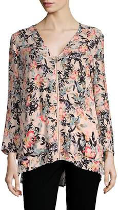 French Connection Women's Delphine Crepe Floral Top