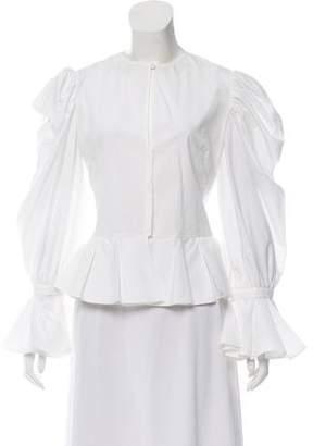 Alexander McQueen Long Sleeve Button-Up Top w/ Tags