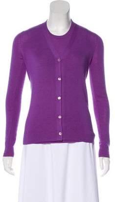 Prada Knit Long Sleeve Cardigan Set