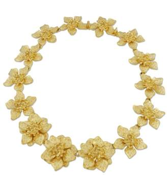 Kenneth Jay Lane Dogwood Flower Necklace