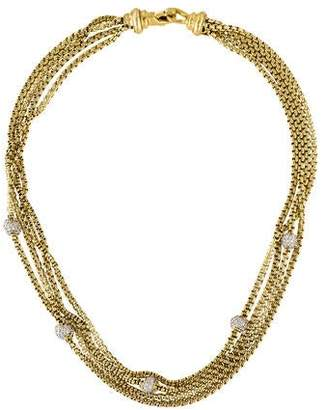 David Yurman 18K Diamond Pavé Ball 4 Row Necklace