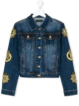 John Richmond Junior crest sleeve denim jacket