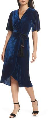 Fraiche by J Velvet Faux Wrap Dress