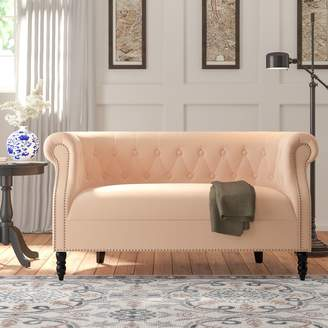 Andover Mills Quinones Chesterfield Loveseat Upholstery Material: Polyester, Upholstery