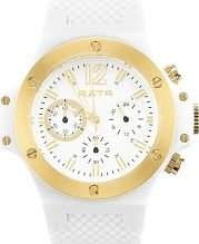 LTD Watch RXTR Unisex Quartz Watch with White Dial Chronograph Display and White Silicone Strap LTD-310101