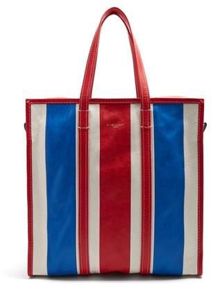 Balenciaga Bazar Shopper M - Womens - Red Stripe