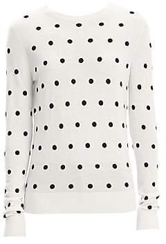 Theory Women's Merino Wool Polka Dot Sweater
