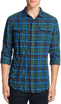 Vince Western Plaid Frayed Edge Slim Fit Button-Down Shirt $225 thestylecure.com