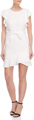Lucy Paris Ruffle Trim Tie Waist Dress