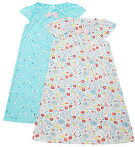 John Lewis & Partners Girls' Dragonfly Print Night Dress, Pack of 2, Multi