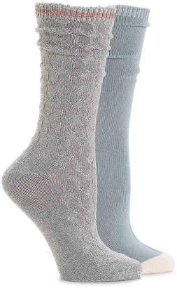 Steve Madden Colorblock Cable Crew Socks - 2 Pack - Women's