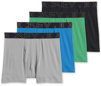 Jockey Men 4-Pack Active Blend Boxer Brief