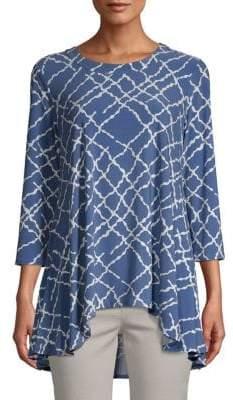 Anne Klein Greenwhich Tartan Print Drape Top