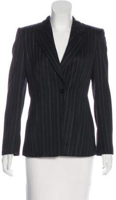 Armani Collezioni Striped Virgin Wool Blazer