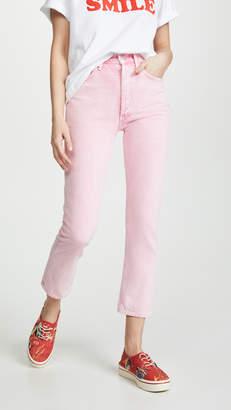 A Gold E Agolde Hi Rise Riley Crop Jeans