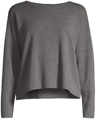 Eileen Fisher Merino Wool Long-Sleeve Top