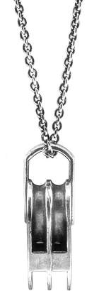 Anchor And Crew Tyne Silver Pulley Pendant Necklace