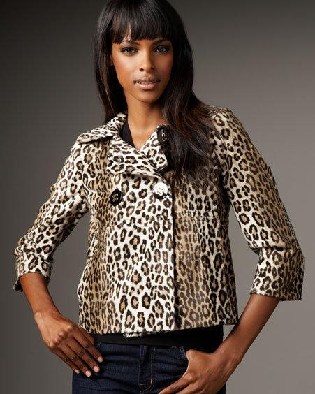 Milly Leopard-Print Faux Fur Jacket