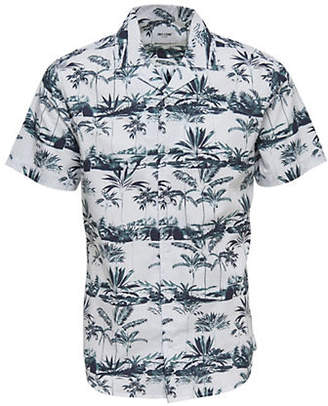 ONLY & SONS Palm Tree Printed Sport Shirt