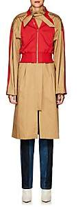 BEIGE BESFXXK Women's Mixed-Media Trench Coat - Beige, Tan