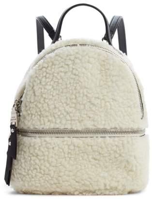 Steve Madden Mini Faux Fur Convertible Backpack