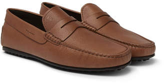 Tod's City Gommino Textured-Leather Driving Shoes - Men - Brown