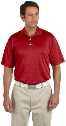 adidas Men's ClimaLite Knit Textured Side Seamed Polo Shirt, L