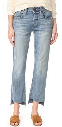 Current/Elliott The Crossover Jeans with Step Hem $248 thestylecure.com