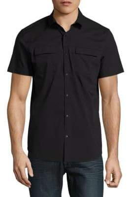 Calvin Klein Stretch Poplin Utility Shirt