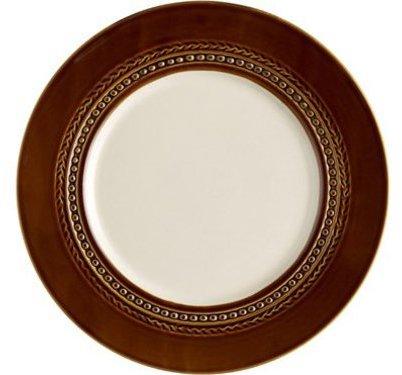 Paula Deen Set of 4 Southern Gathering Dinner Plates, Chestnut