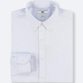Uniqlo Men's Easy Care Dobby Stretch Slim-fit Long-sleeve Shirt