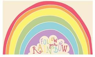 DESIGN IMPORTS Rainbow Follow Indoor/Outdoor Doormat