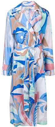 Emilio Pucci graphic print trench coat