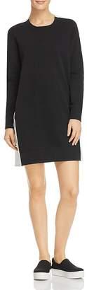 Donna Karan Cotton French Terry Contrast Dress